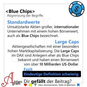 Blue Chips Definition Large Caps, Standardwerte