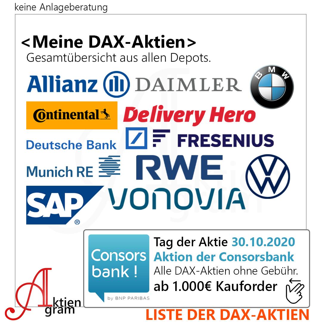 Dax Aktien kostenfrei kaufen Tag der Aktie