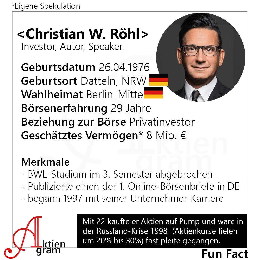 Christian W. Röhl | Investor, Autor, Speaker