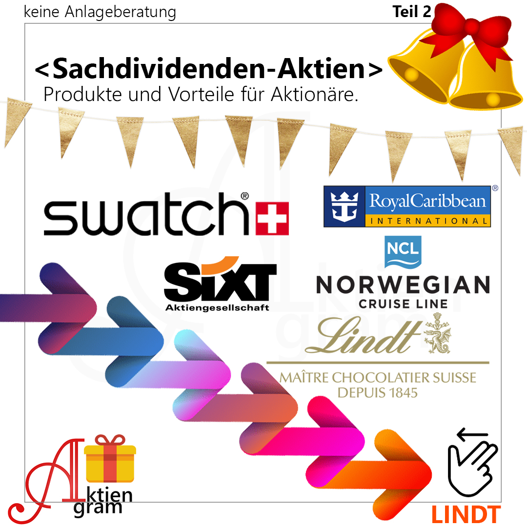 Aktien mit Sachdividende - Lindt, Sixt, Swatch, Royal Caribbean, Norwegian Cruise