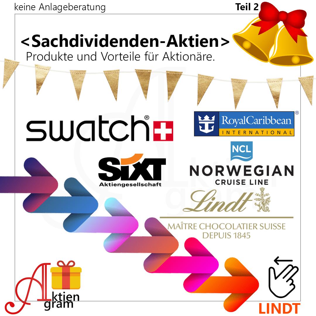 Aktien mit Sachdividende - Lindt, Sixt, Swatch, Royal Caribbean, Norwegian Cruise