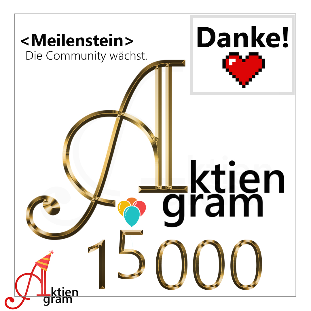 15000 Follower auf Instagram