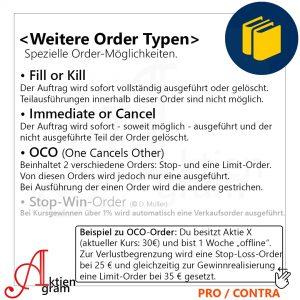 Ordertypen im Aktienhandel, Fill or Kill, Immediate or Cancel, OCO