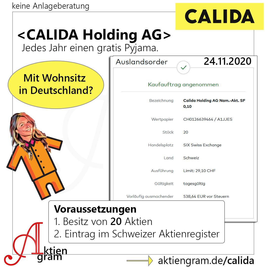 Anleitung Calida Pyjama Sachdividende