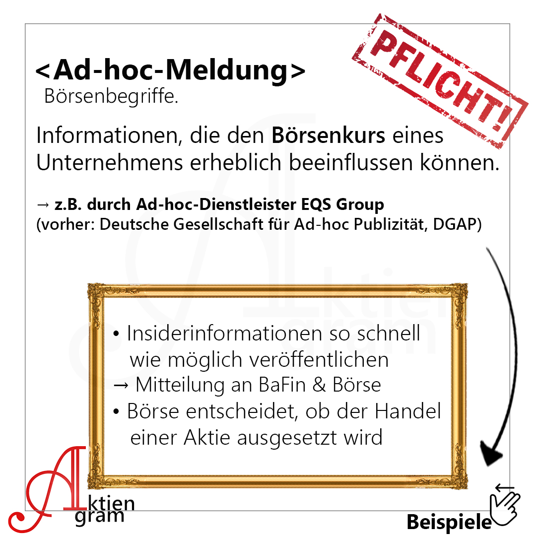 Aktiengram Ad-hoc-Meldung