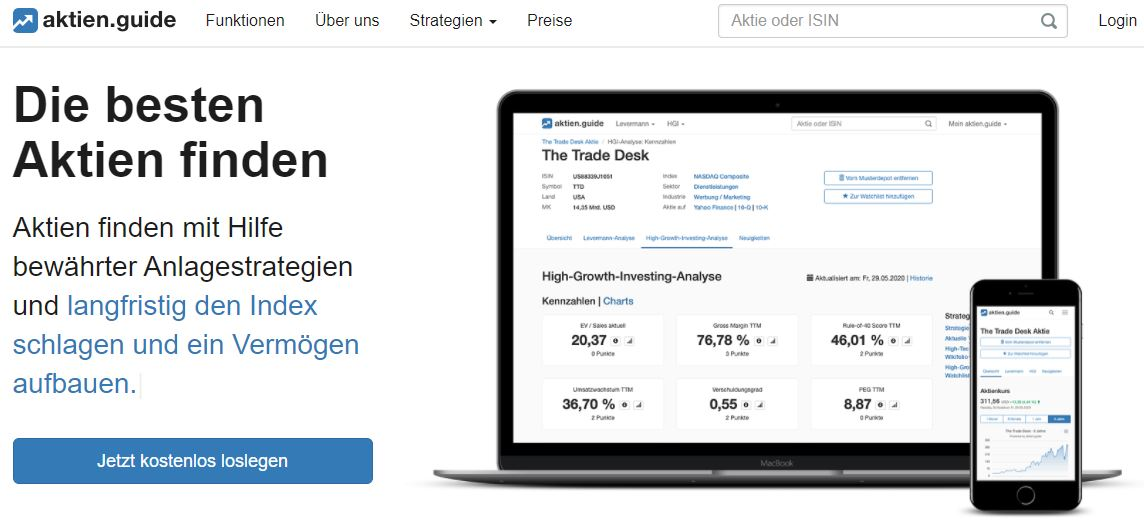 AktienGuide Aktien analysieren