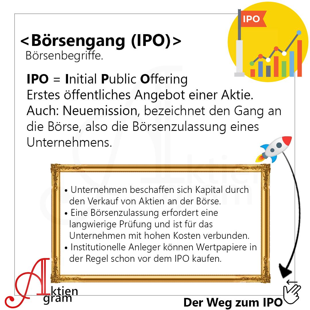 Börsengang IPO einfach erklärt