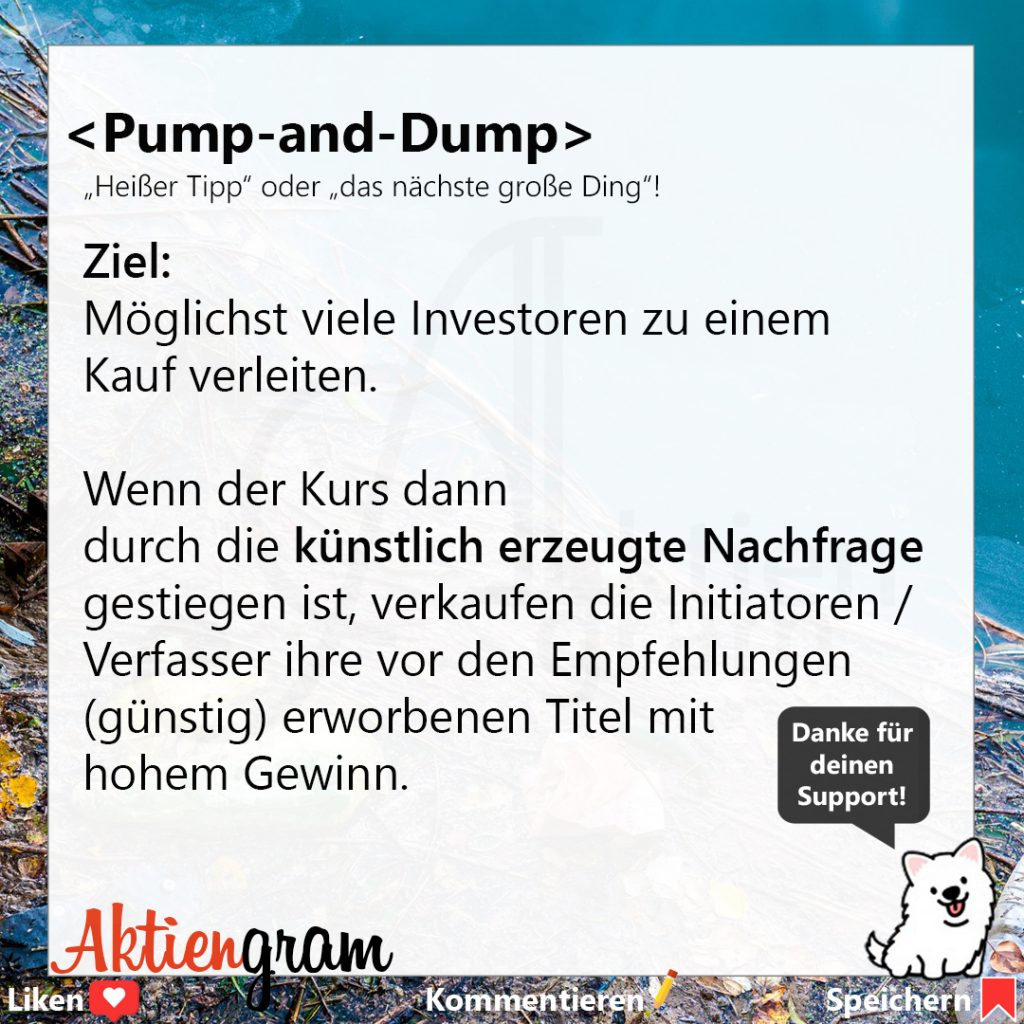Pump-and-Dump | Börsenbegriffe
