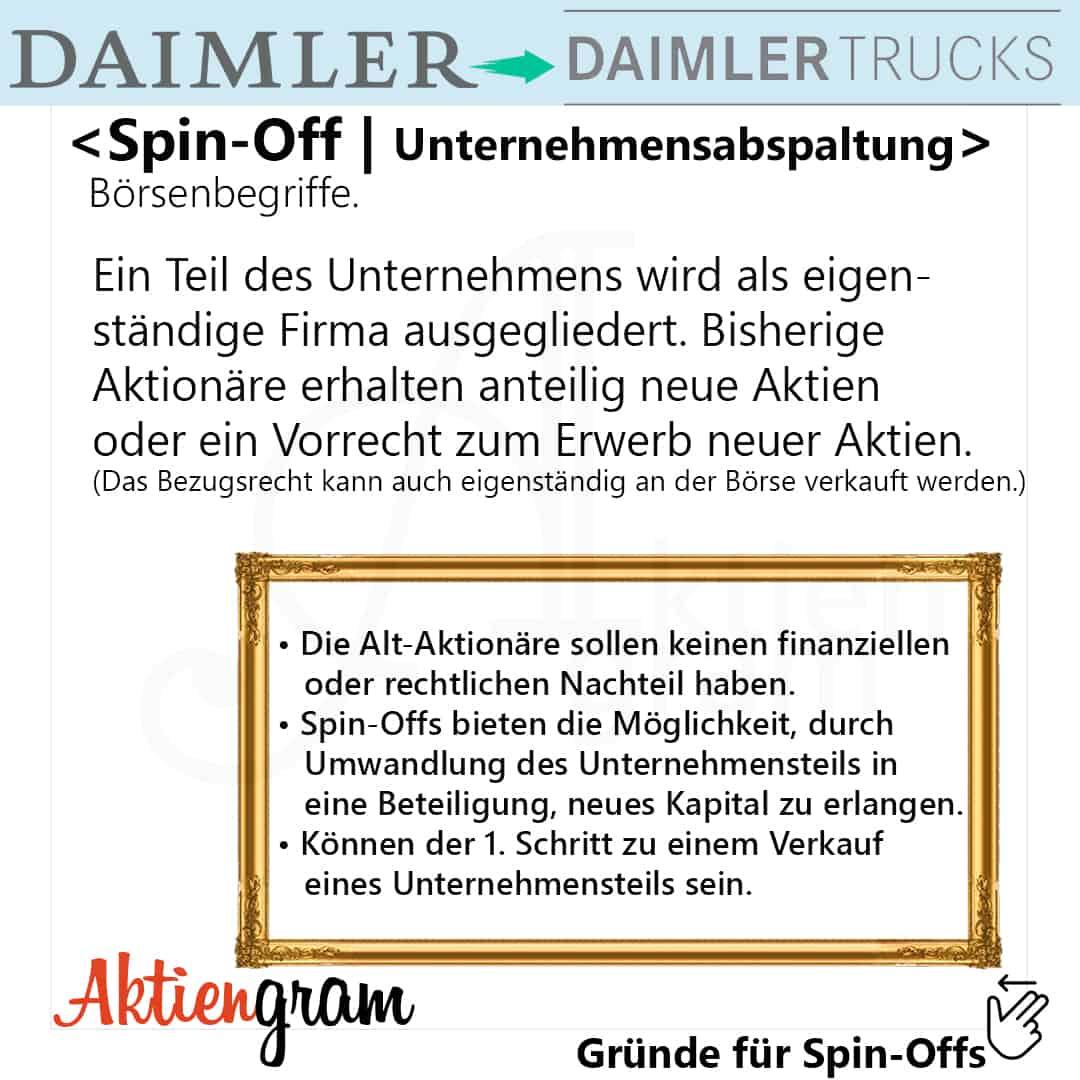 Spin-Off bei Daimler-Börsenbegriffe-1